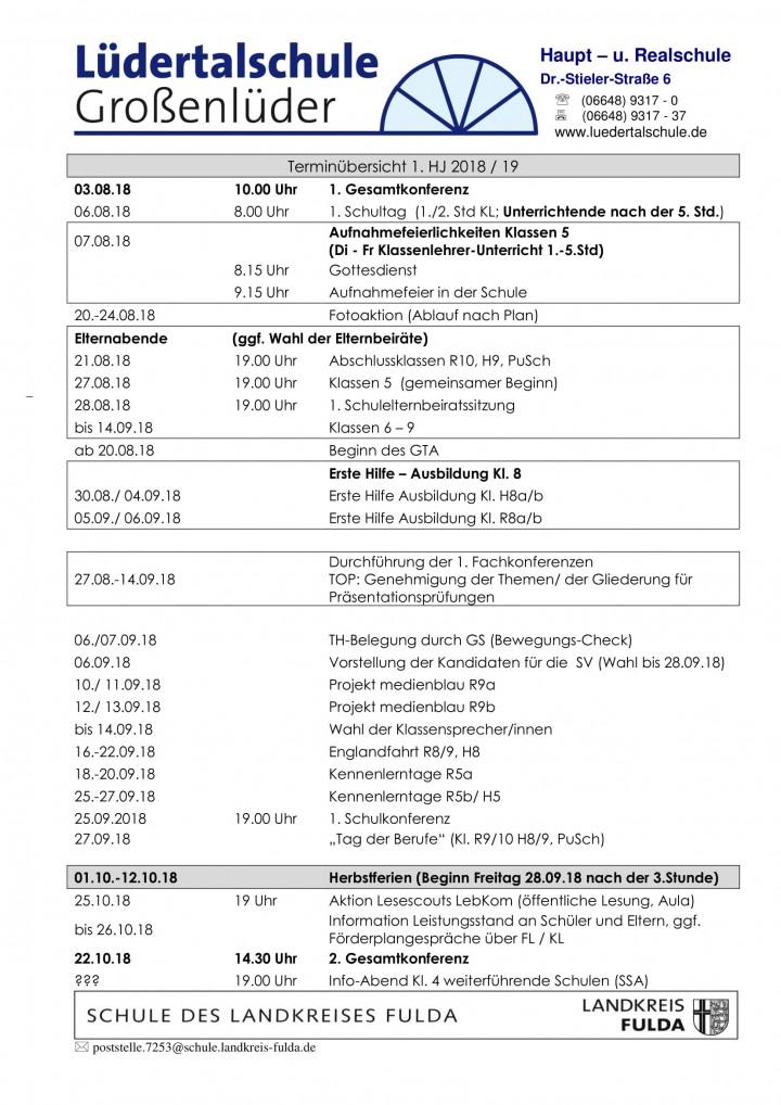Terminplan 1.HJ-1