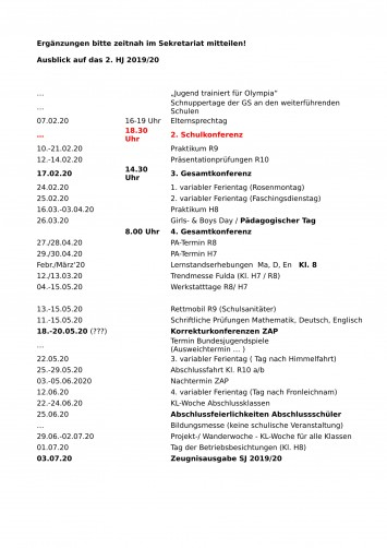 Terminplan 1.HJ-3